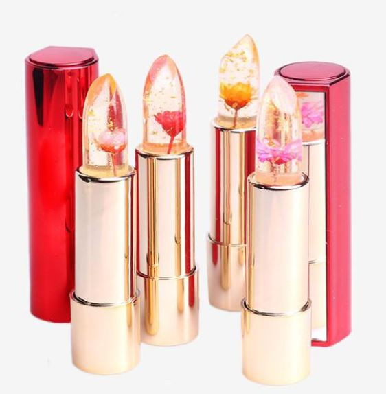 24 Karat Gold Flower Jelly Lipstick