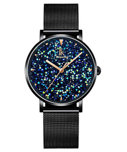 IK Colouring® 36mm Black Minimalist Lady Dress Watch