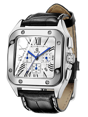 IK Colouring®Men's Wrist Watch, Analog Quartz 6 Hands Chronograph Calendar Sport Watch