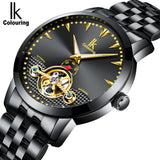 IK Colouring® 40mm Black Luxury Luminous Watch