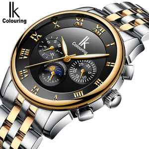 IK Colouring® 41mm Black Traditional Chronograph Watch