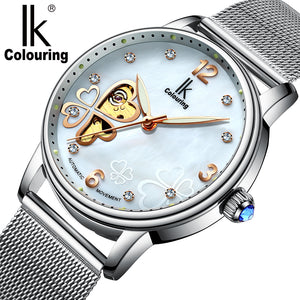 IK Colouring® 36mm Slivery Elegant Lady Dress Watch