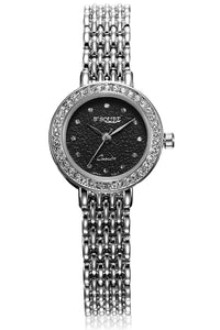 S2SQURE® 40mm WHITE/BLACK Crystal Women Dress Watch