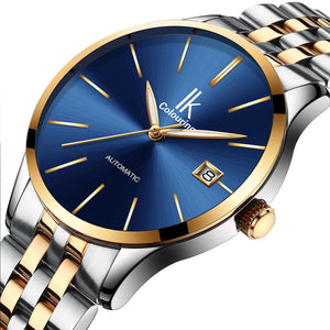 IK Colouring® 40mm Golden Casual Day Date Watch