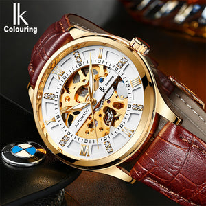 IK Colouring® 41mm White Fashion Leather Strap Watch