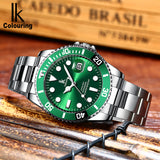 IK Colouring® 40mm Green Ultra Thin Luminous Date Fashion Wrist Watch