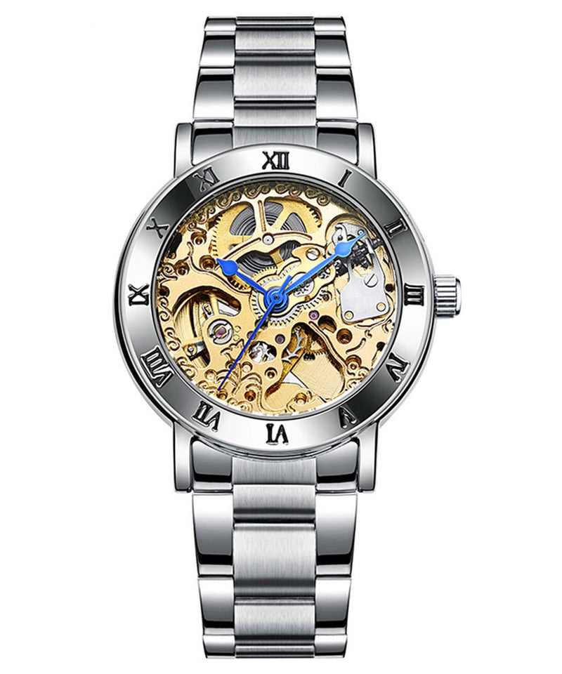 IK Colouring® 36mm Golden Steampunk Self Winding Watch