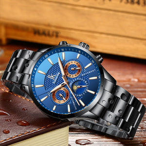 IK Colouring® 41mm Blue Business Automatic Watch