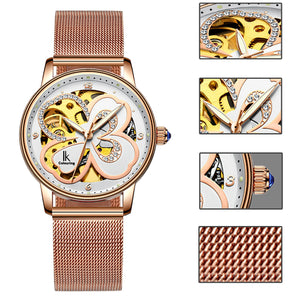IK Colouring® 36mm Rose Golden Luxury Lady Dress Watch