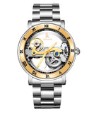 IK Colouring® 43mm Golden Luxury Steampunk  Watch