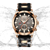 Biden® 45mm Golden Business Traditional  Chronograph Man Watch