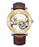 IK Colouring® 43mm Luxury Steampunk Leather Strap Watch