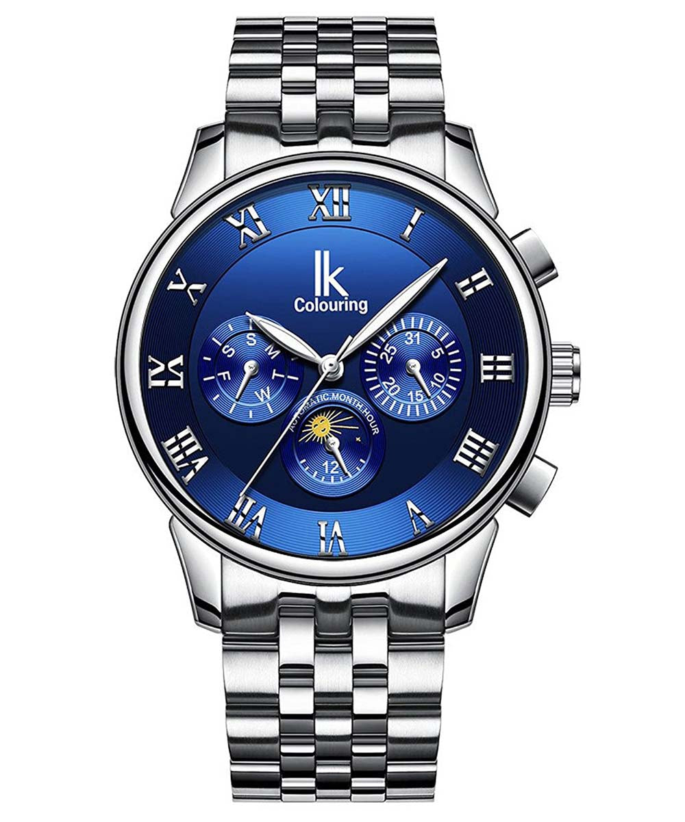IK Colouring® 41mm Blue Traditional Chronograph Watch