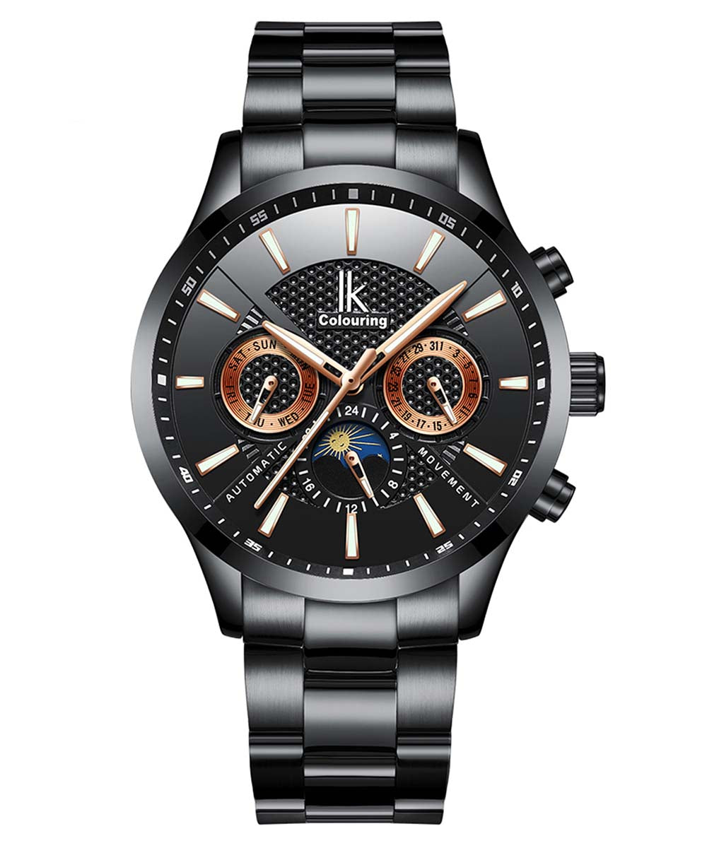 IK Colouring® 41mm Black Business Automatic Watch