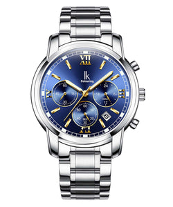 IK Colouring® 42mm Blue/Black Traditional Chronograph Watch