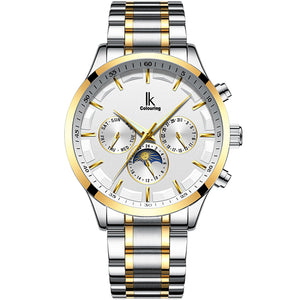 IK Colouring® 41mm White Traditional Chronograph Watch