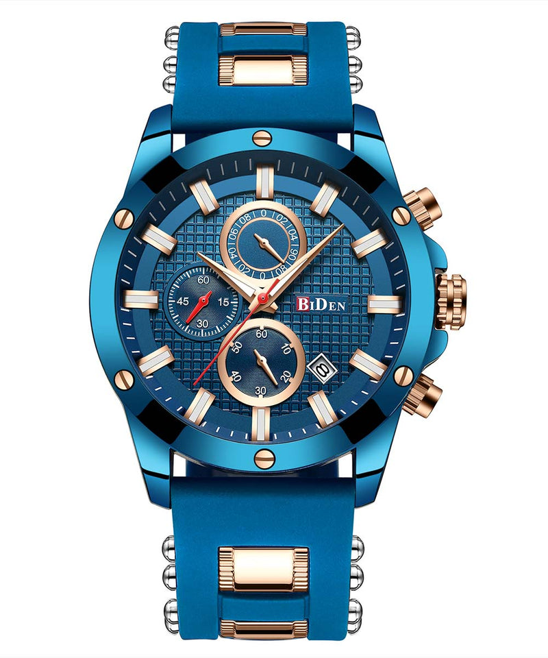 Biden® 45mm Blue Business Traditional  Chronograph Man Watch