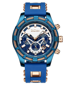 Biden® 42mm Blue Fashion Style Traditional  Chronograph Business Watch
