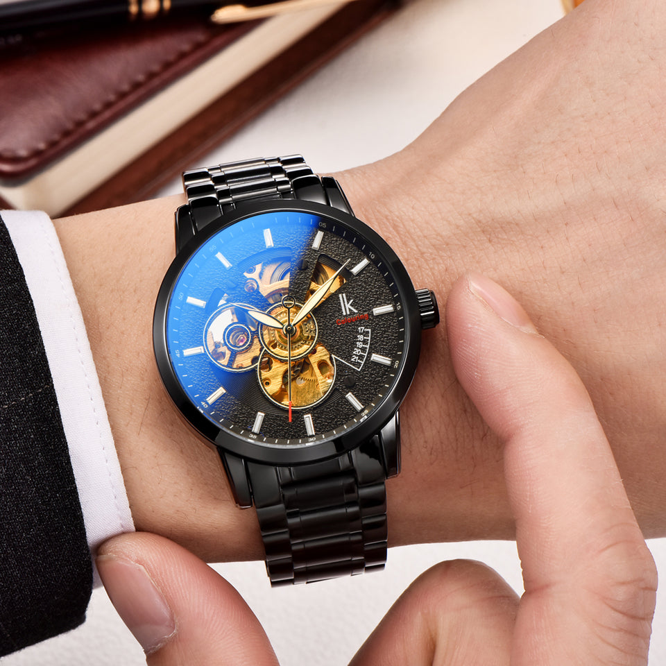 IK Colouring® 40mm Casual Luminous Coated Glass Watch
