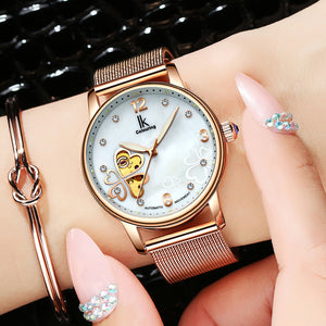 IK Colouring® 36mm Rose Golden Elegant Lady Dress Watch