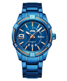 Biden® 41mm Blue Elegant Day Date Men Watch