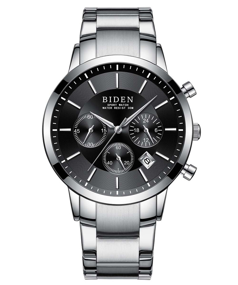 Biden® 42mm Black Casual Traditional  Chronograph Men Watch