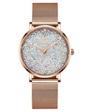 IK Colouring® 36mm Rose Golden Minimalist Lady Dress Watch