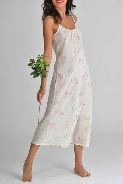 Antique Dot Floral Long Slip