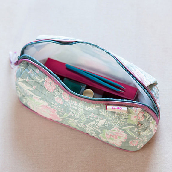 Grey French Fleurs Bella Make up bag
