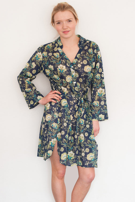 Navy French Fleurs Bella Dress