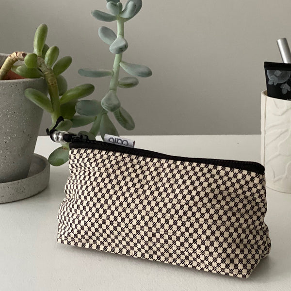 Black Geo Mini Make up bag