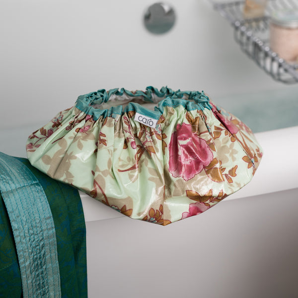 Blue Beautiful Shower Cap