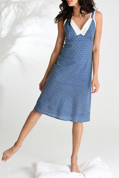 Blue Circle Tile Very Lacey Nightie