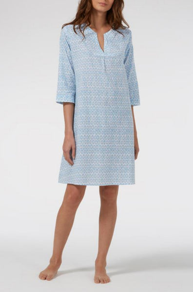 Blue Hexagon Florence Kaftan Nightie