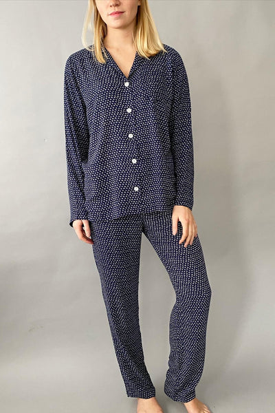 Navy Mini Batik Classic Pyjama Set