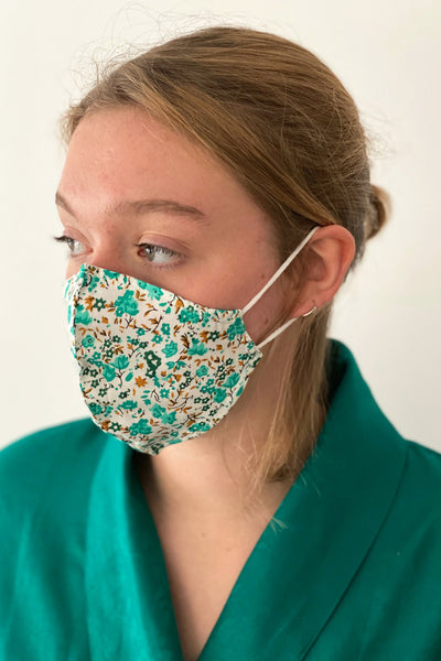 Green Sprigs cotton resuable Face mask
