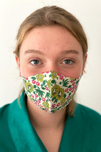 Fresh Floral cotton print reusable face mask