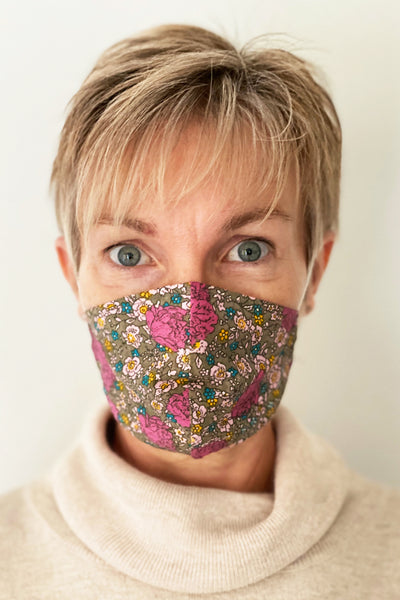 Morris Hommage cotton print reusable face mask