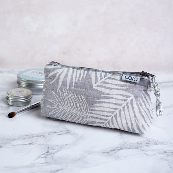 Grey Fern Mini Make up bag
