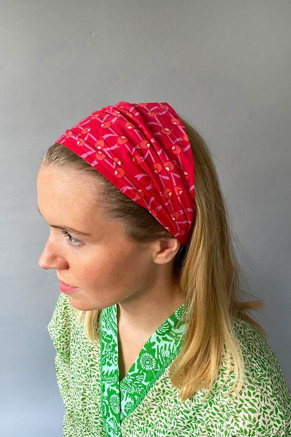 Red Art Deco Headband