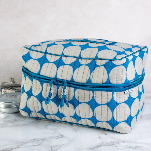 Cobalt Dot Vanity Washbag