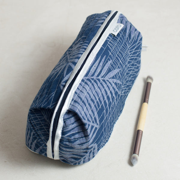 Navy Fern Bella Make up bag