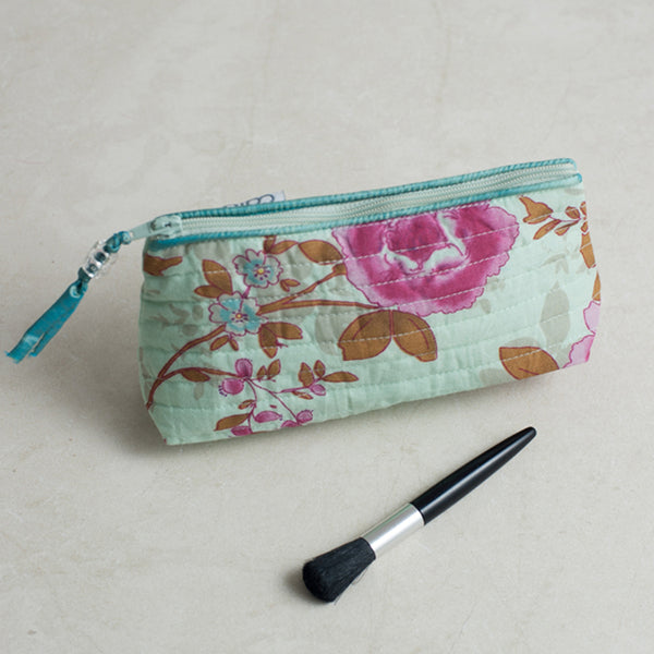 Blue Beautiful Mini Make up bag