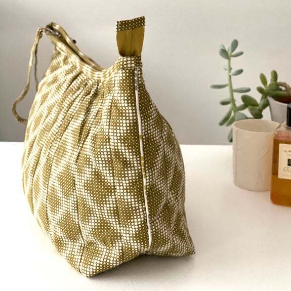 Olive Diamond Pagoda Washbag