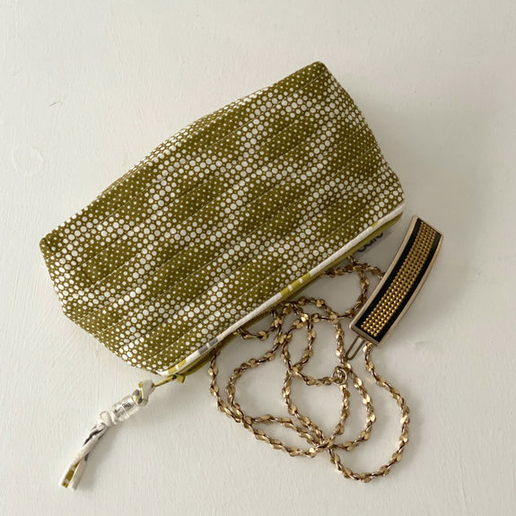 Olive Diamond Mini Make up bag