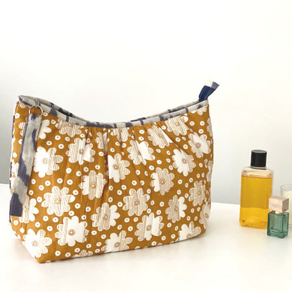 Yellow Ochre Retro Pagoda Washbag
