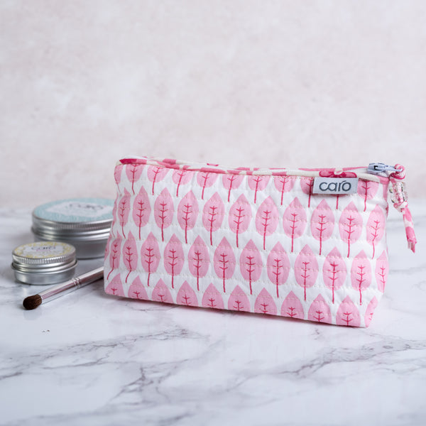 Pink Trees Mini Make up bag