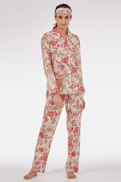 Pink Beautiful Classic Pyjama Set