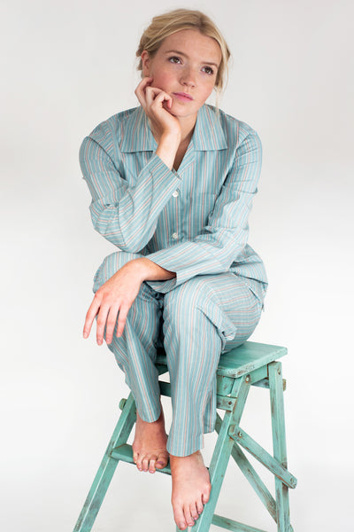 Chambray Striped Classic Pyjama Set
