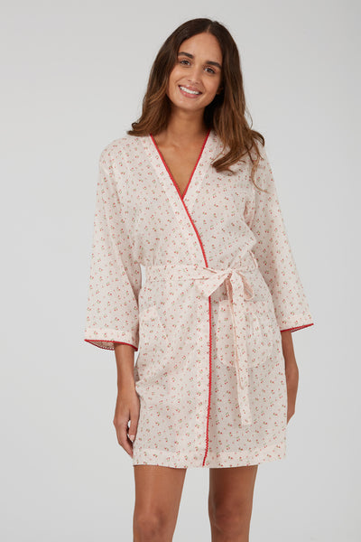 Cherry Bud Short Robe